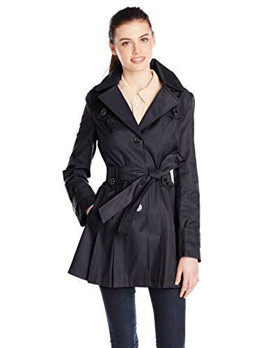 New Trending Outerwear: Via Spiga Womens Single-Breasted Belted Trench Coat with Hood, Navy, Medium. Via Spiga Women's Single-Breasted Belted Trench Coat with Hood, Navy, Medium   Special Offer: $91.00      322 Reviews Via spiga water-resistant single breasted trench with hood and front pockets. Feminine pleating detail in front and back.Single-breasted trench coat with removable...