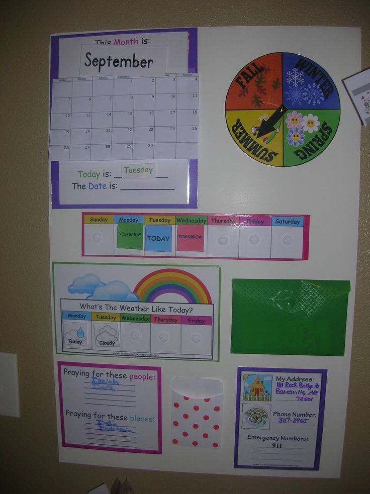I like the elements of this circle time board