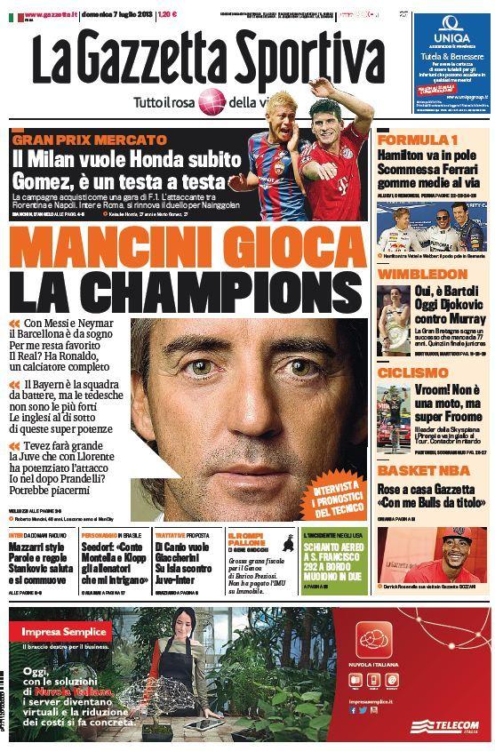 La Gazzetta dello Sport (07-07-13) Italian | True PDF | 40 13 pages | 11,26 5,04 Mb