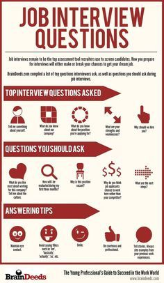 Job interviews remain to be the top assessment tool recruiters use to screen candidates. How you prepare for interviews will either make or break your chances to get your dream job.  BrainDeeds.com compiled a list of top questions interviewers ask, as well as questions you should ask during job interviews. | https://www.facebook.com/BrainDeeds