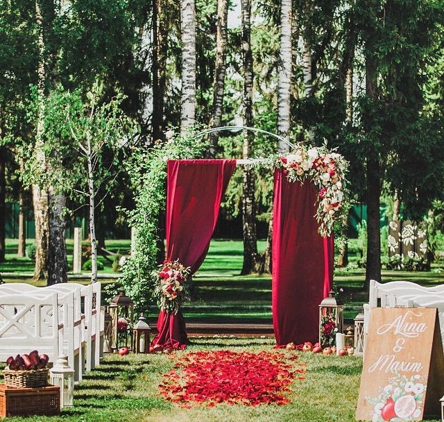 Red Wedding Arch Decoration Ideas: Pin By Beautifulday Wedding Blog On Wedding Decorations