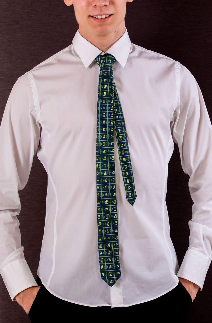Necktie for chemist! tie with periodic table!