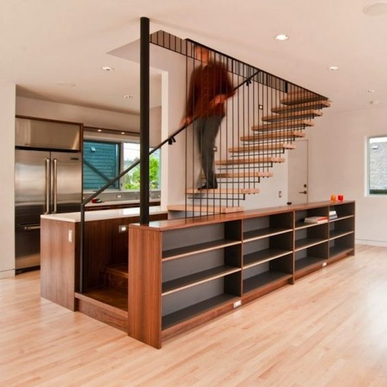 62 best stairs images on pinterest stairs railing ideas for Stair cabinet design
