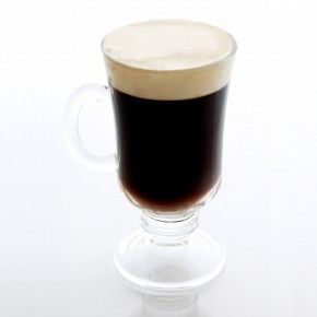 Irish Coffee Cocktail Recipe | Liquor.com - 1.5oz Jameson Irish Whiskeym, 1oz Brown sugar syrup (1 part brown sugar, 1 part water), hot brewed coffee, unsweetened cream, lightly whipped.  Add whiskey & syrup to Irish Coffee Glass & fill 2/3 of the way with coffee.  Top with one inch of whipped cream.