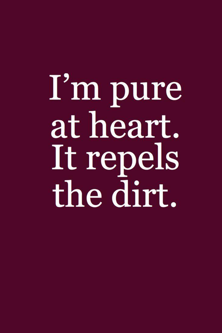 be pure at heart