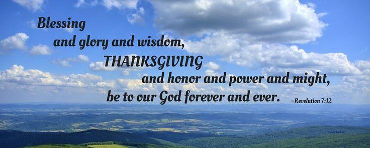 25 Thanksgiving Bible Verses