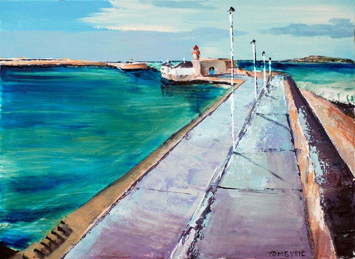 #DunLaoghaire from #DublinBay Series by #TomByrne from #DukeStreetGallery Dublin