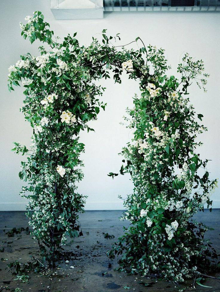 full organic floral wedding ceremony arch