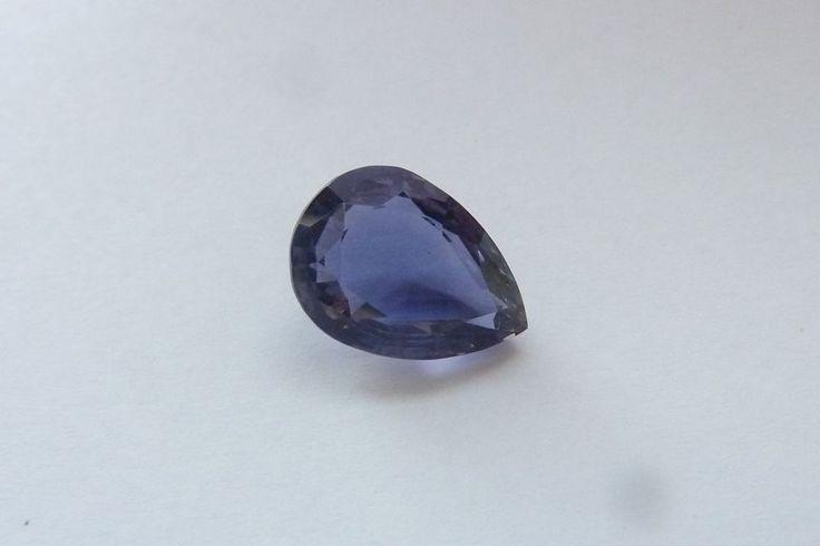 4.39 Cts Pear Shape Blue Color 100% Natural Iolite Loose Gemstone ~ 13*9.50 MM #KinuBabaGems