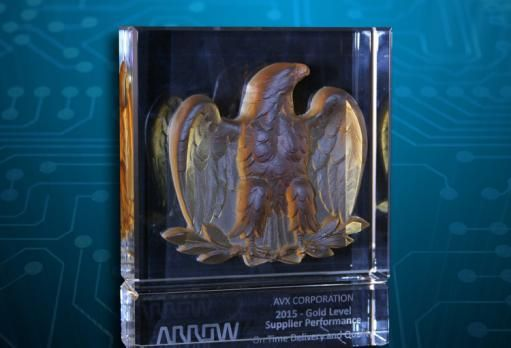 AVX Receives Gold-Level Perfect Order Index Award From Arrow Electronics