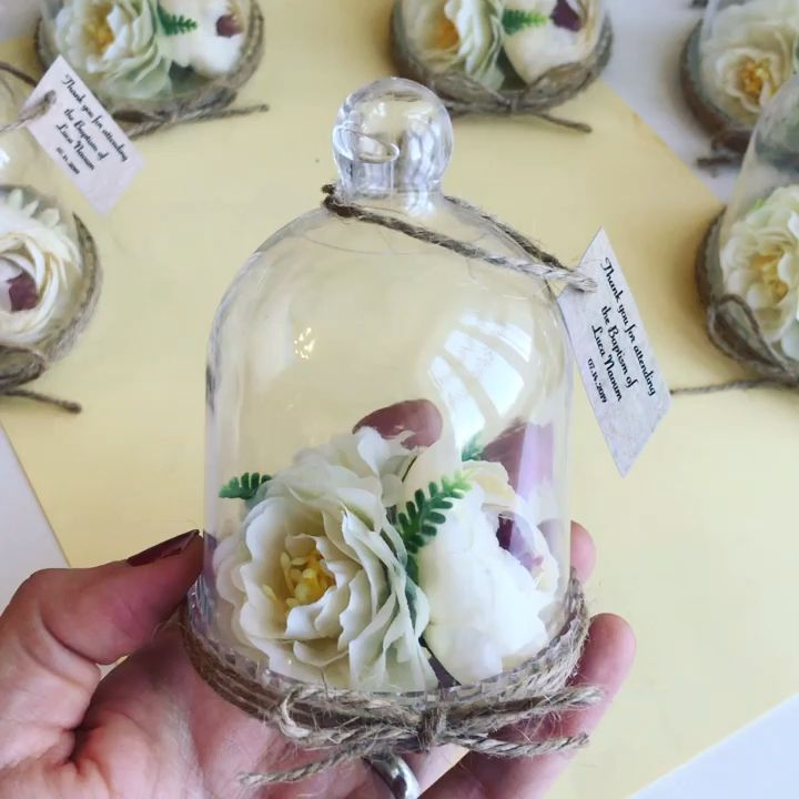 Watch: Elegant Wedding Favors, Rose Dome Bell Jar Wedding