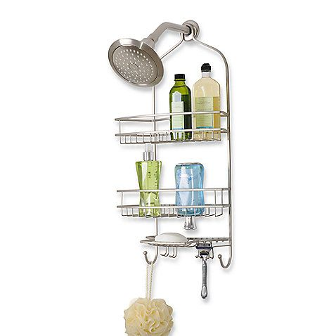 Buy Extra Large Satin Nickel Shower Caddy From At Bed Bath U0026 Beyond. With A  Luxury Stain Nickel Finish, Shower Caddy Is A Handsome As Well As Handy  Addition ...