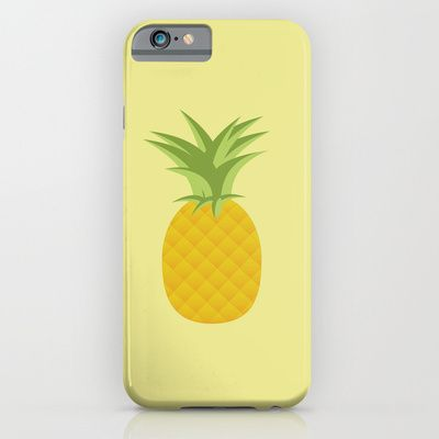 pineapple iPhone case, society6, fruit, design