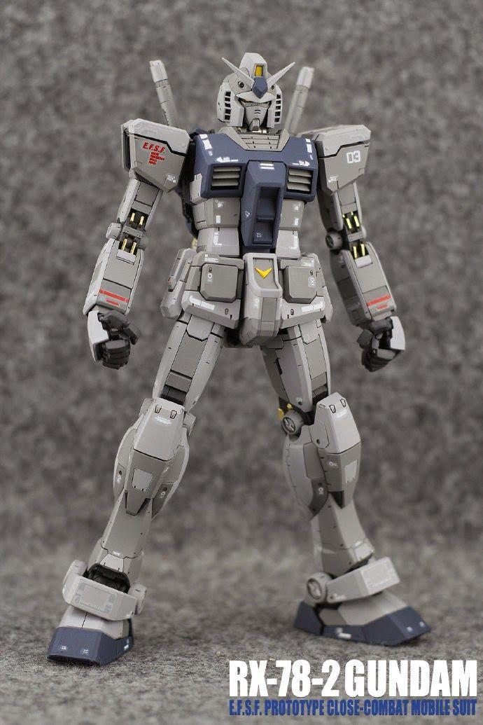 "Painted Build: MG 1/100 RX-78-2 Gundam Ver. 3.0 ""G3 Colors"" - Gundam Kits Collection News and Reviews"