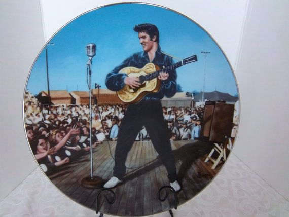 Elvis Presley Collectible Plate In Performance by WanderingSaint, $10.00