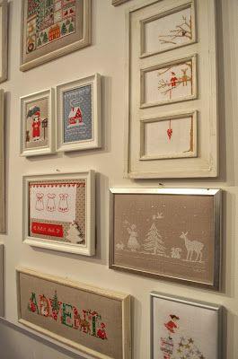 Cross Stitching Christmas Picture Frames / Kreuzstich Weihnachten Advent Bilder Rahmen