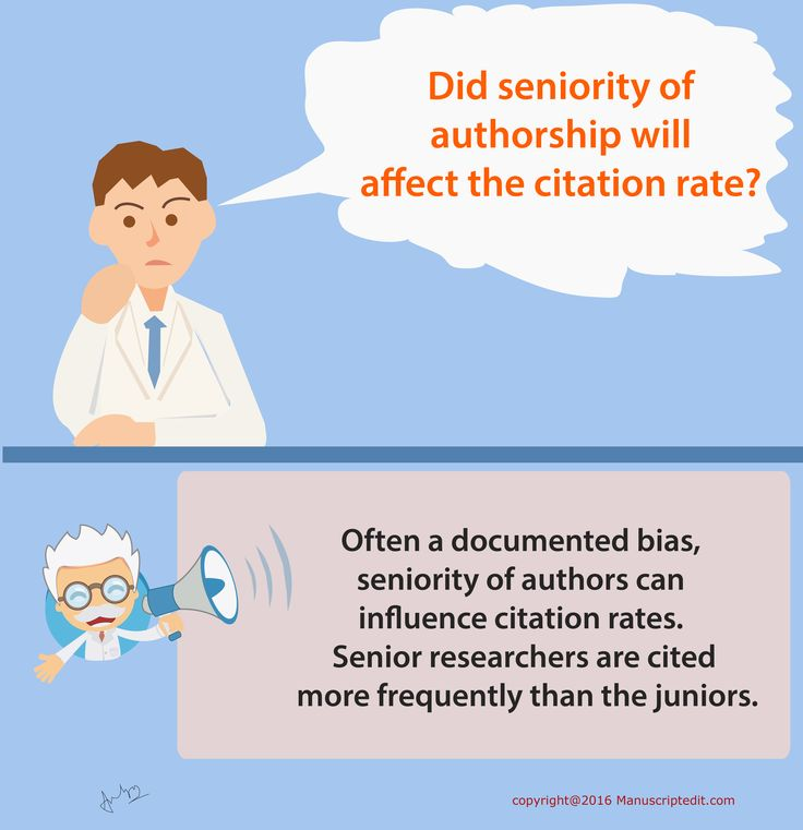 #‎Manuscriptedit‬ @ Did seniority of ‪#‎authorship‬ will affect the citation rate?  Often a documented bias, seniority of ‪#‎authors‬ can influence citation rates. Senior ‪#‎researchers‬ are cited more frequently than the juniors.  #Manuscriptedit ‪#‎post‬ : http://bit.ly/1NvtPEX