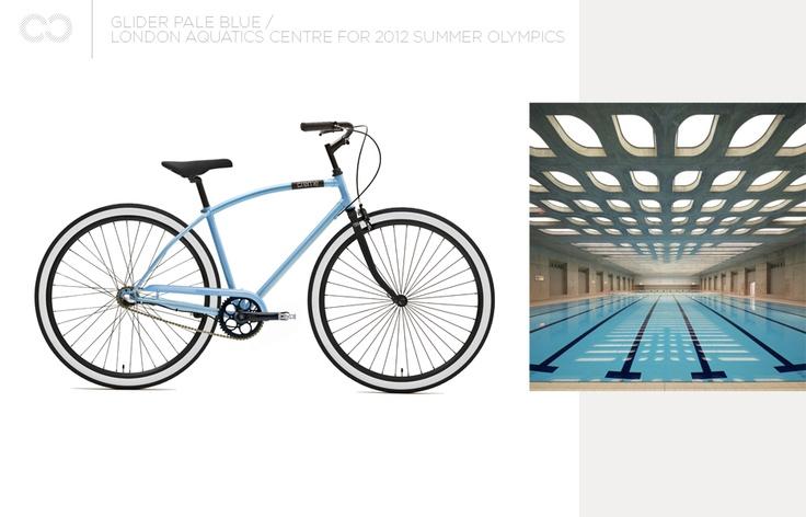 Creme Glider Pale Blue + London Aquatics Centre for 2012 Summer Olympics