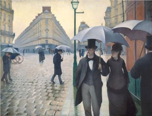 Paris, a Rainy Day - Gustave Caillebotte      And quite honestly, one of my favourite artworks.