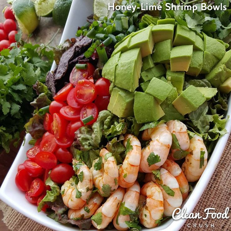 Honey-Lime Shrimp Bowls Clean Eating Recipe http://cleanfoodcrush.com/honey-lime-shrimp