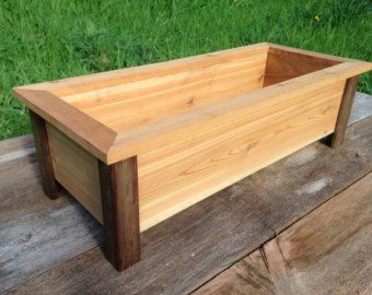 Craftsman Style Cedar Planter Box   Herb Planter   Flower Box   Raised Bed