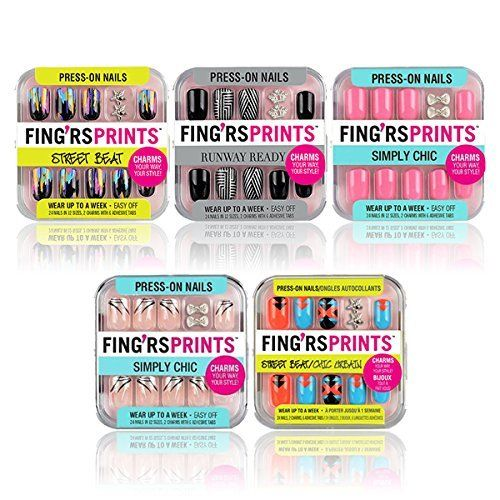 Fing'rs Prints Press-On Nails Set 5-Piece Collection -1 >>> You can find out more details at the link of the image.