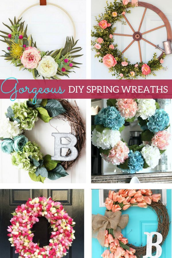 Diy Spring Wreaths To Try This Year Marly Dice Spring Diy Spring Wreath Diy Spring Wreath