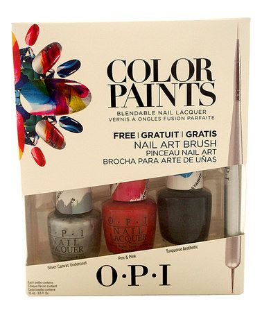 Love this Four-Piece Color Paints Nail Polish Set on #zulily! #zulilyfinds