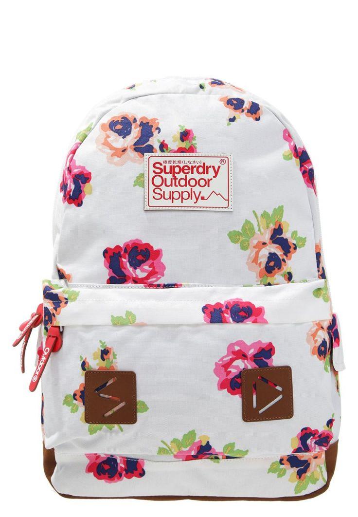 Superdry SUMMER BLUSH MONTANA Plecak biały w kwiaty optic