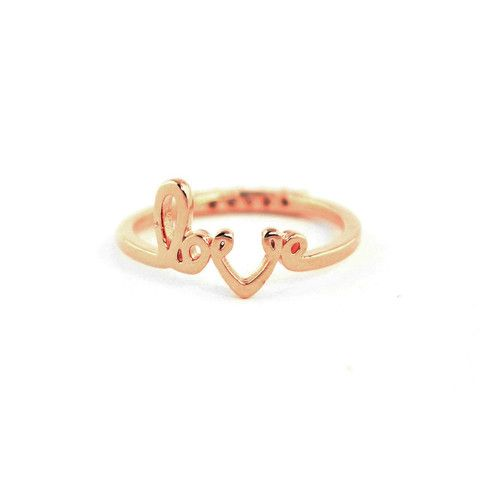 Love Midi Rose Gold Ring