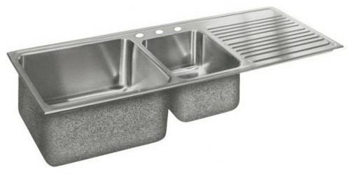 Double Bowl Stainless Steel Sink - contemporary - kitchen sinks - other metro - Rebekah Zaveloff