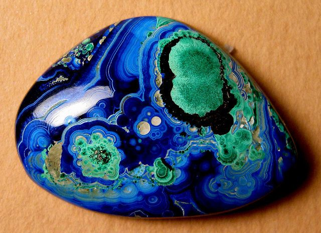 azurite and malachite -- photo by R. Weller - Cochise College (very mindful of fractal patterns)