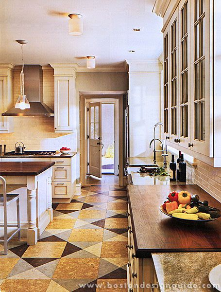 Cork Flooring Doesn T Have To Be Boring Check Out This Amazing Kitchen Floor