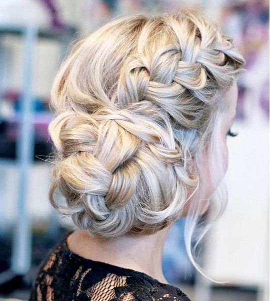 Messy Braided Bun Updo - 101 Braid Ideas That Will Save Your Bad Hair Day (Photos)