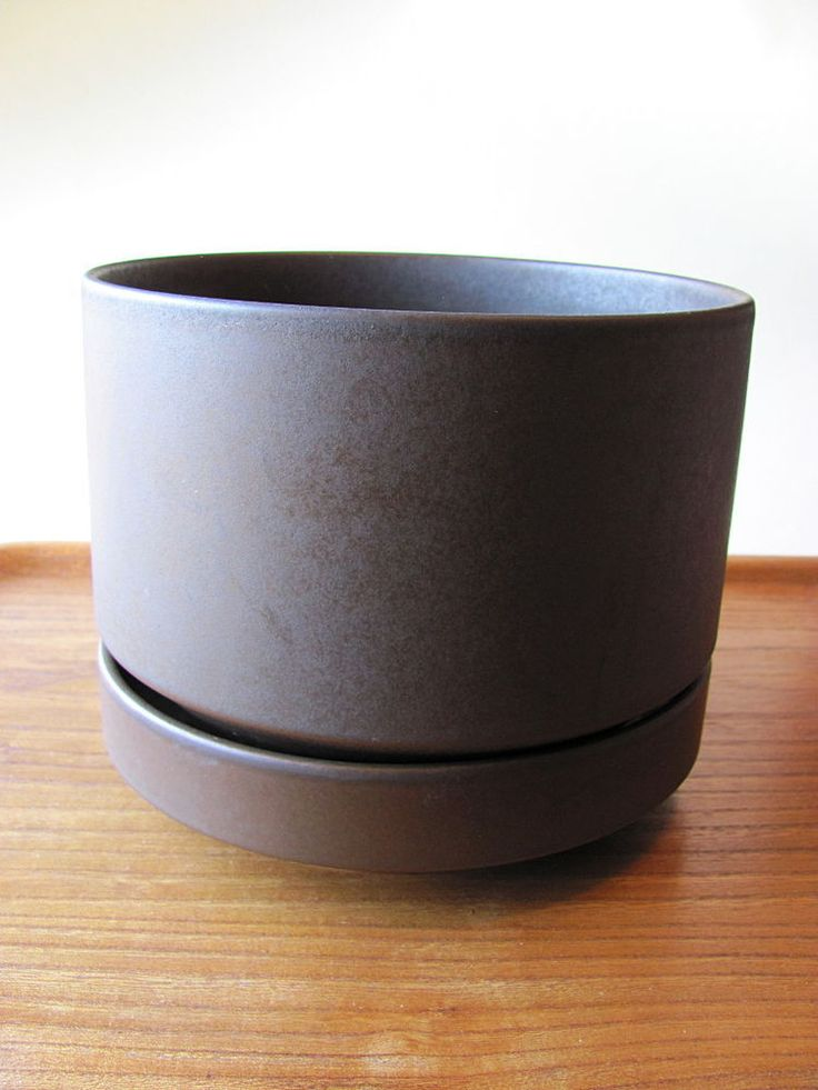 Arabia Finland Brown Planter Richard Lindh size XL Mid Century Modern Ruska #Arabia