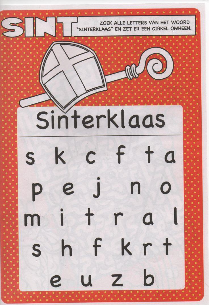 zoek de letters sinterklaas sinterklaas thema
