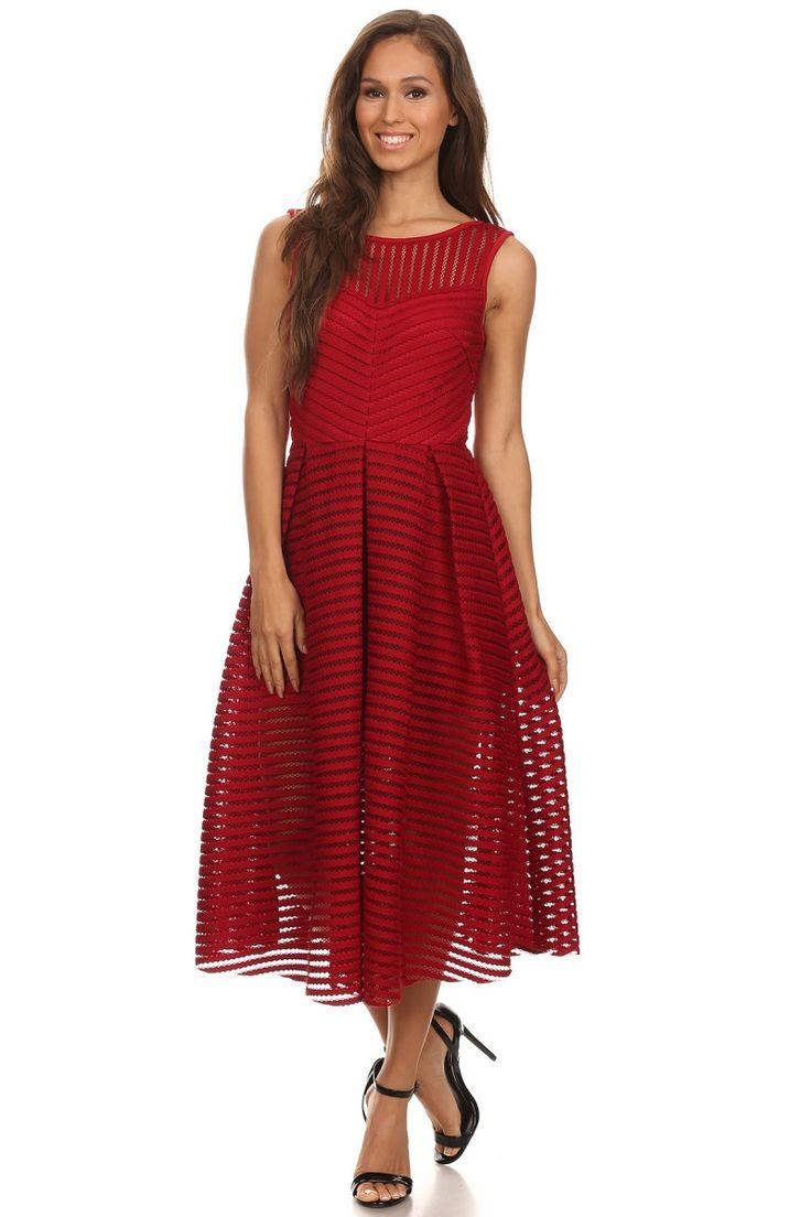 Burgundy cutout crochet zip up dress – Zema