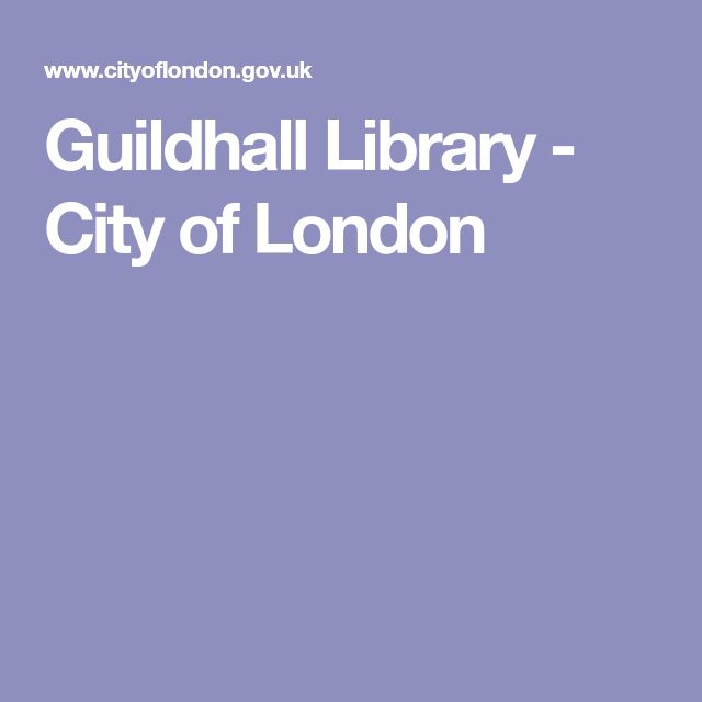 Guildhall Library - City of London