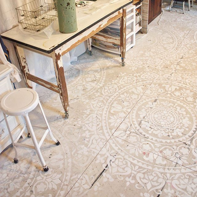 114 Best Images About Stenciled Floors On Pinterest