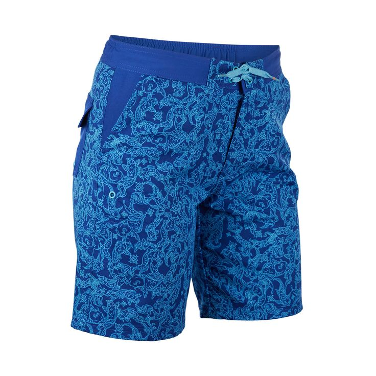 LOVING our new Koi Print from UV Skinz Spring Collection! These women's board shorts are UPF 50+ and available in plus sizes!