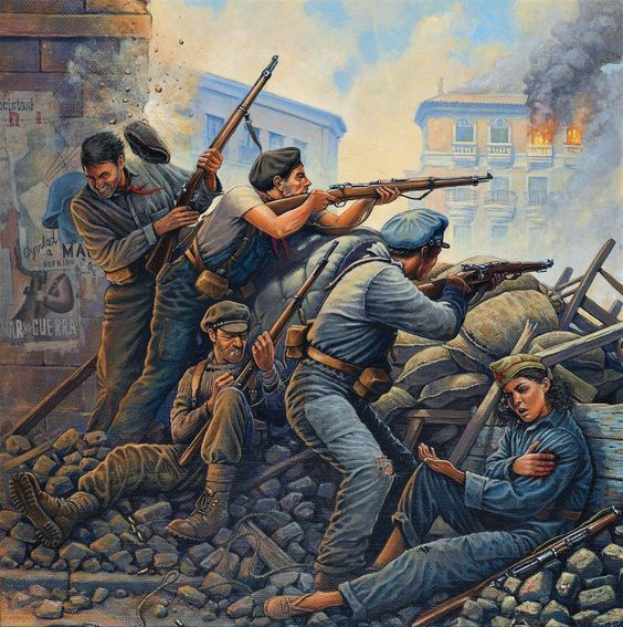 STREET FUGHT SPANISH CIVIL WAR