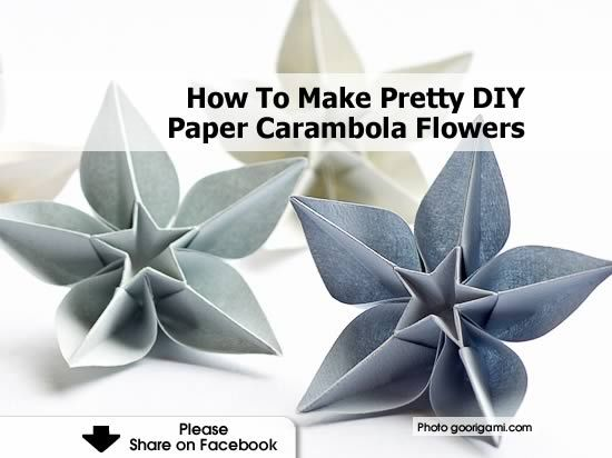 Carambola Flower Origami Instructions Tutorial Origami Handmade