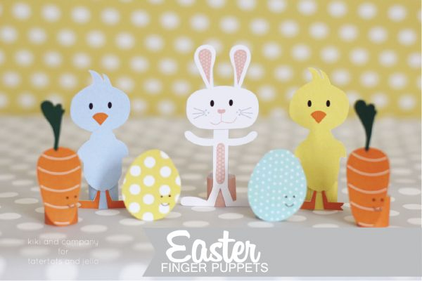 Find fun Easter finger puppets printables for kids this Easter! Find beautiful prints, DIY ideas, projects and recipes Kiki & Company.