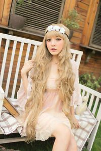 Very Long Princess Cosplay Party Wig Lovely Girl Women Lady Wigs Heat Resistance   eBay