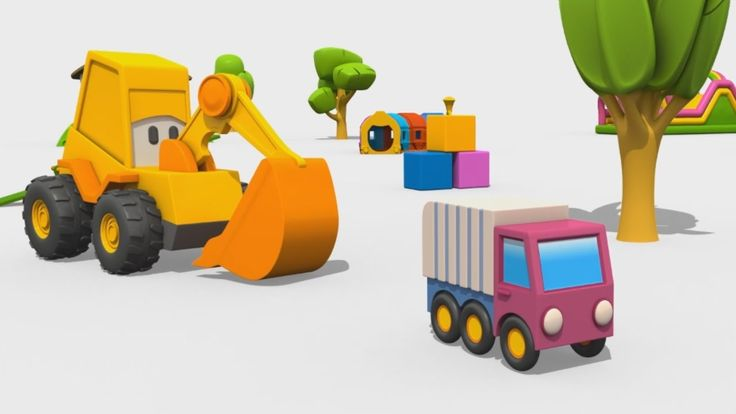 Cartoni Animati per Bambini - Max l'escavatore: come fare il camion dell...