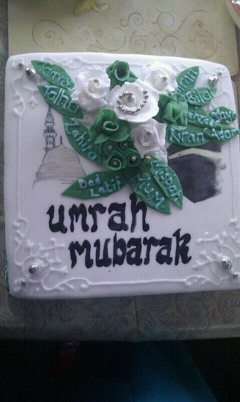 Umrah Banner: Muslim Cake Decorations