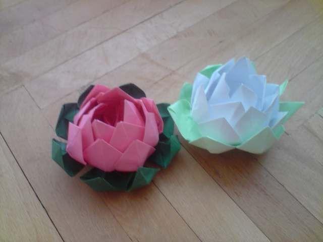 Floraria handmade ... cu flori din hartie: Flori de nufar .
