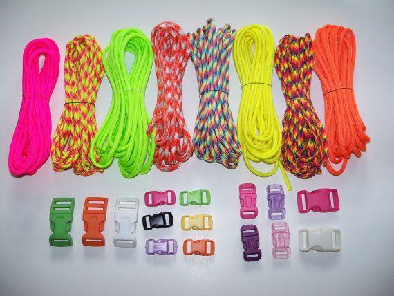 Paracord Bracelet Supplies Bright Neon Colors By Oldschoolgeekery 14 00 My True Colourz Pinterest Bracelets And