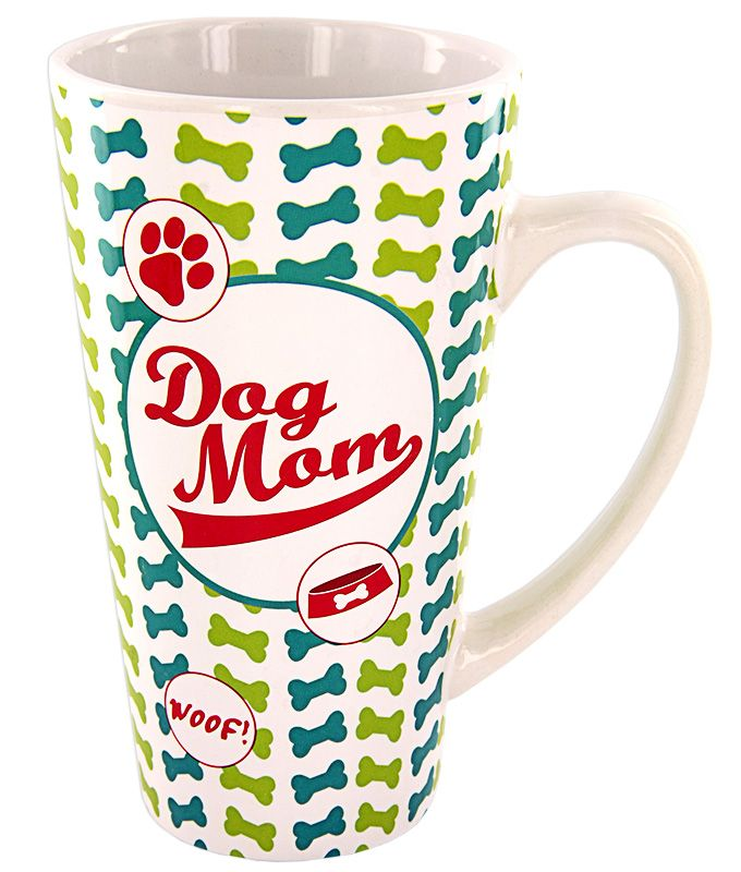 Dog Mom Latte Mug - Every Purchase Funds Food and Care for Rescued Animals.