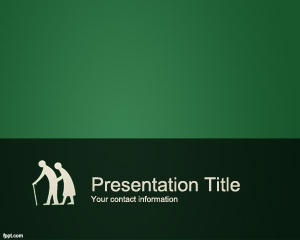Free Seniors PowerPoint Template is a serious but professional seniors template for PowerPoint 2007 and 2010 #powerpoint